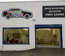 Sell your car at WeWantAnyVan Oldham branch