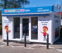 Sell your car at WeWantAnyVan Coventry branch